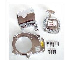 Chrome moteur kit ( pull starter + couvercle de cylindre + capot latéral + vis ) pour 1/5 échelle HPI Rovan Baja 5b de 23cc, 26cc, 29cc, 30.5cc pièces