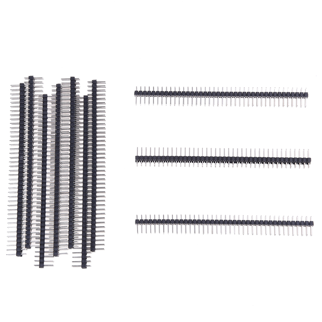 10 Pcs 2x40 Pin 2 54mm Pitch Double Row Pcb Pin Headers