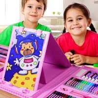 86 ensembles de stylo aquarelle pour enfants pinceau couleur stylo crayon peinture à l'huile bâton couleur crayon gouache art fournitures