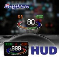 GEYIREN hud display car E300 3S R8 HUD OBD II EUOBD Voltage Alarm Water Temperature Alarm speedometer windshield car electronics