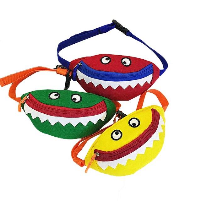 2019 HOT Crianças Bebê Bonito Menina Cintura Packs Moda Lazer Pequeno Monstro Cotton Mini Bag bloco de fanny belt bag