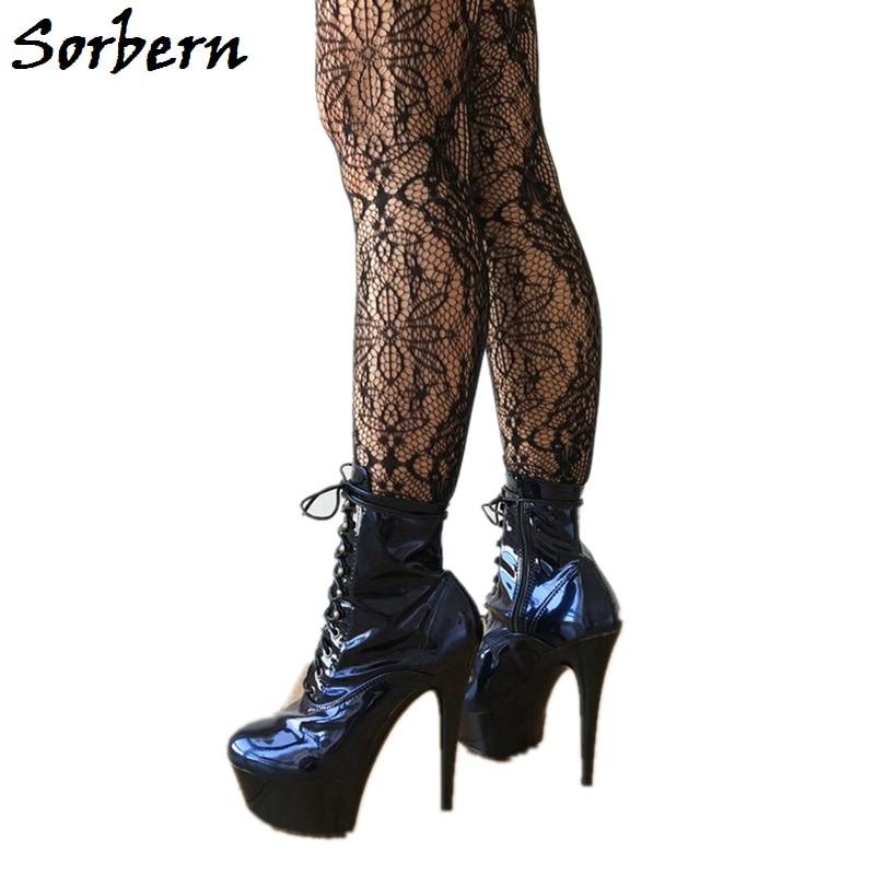 Modes Chaussures Color Taille Femmes Designers forme Cm De Plate 5 attaché 46 Talon Femme Croix Sorbern 35 Cheville Luxe Bleu custom Bottes Zipper Haute Chine a4wHqS