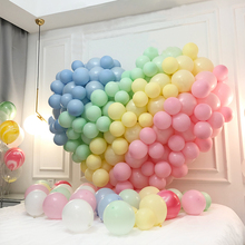 BTRUDI 100pcs 10inch2.2gmacaroon balloons chain background wall wedding valentines day decoration birthday kids party supplies