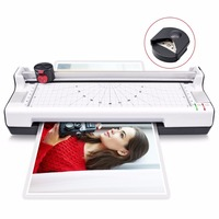 4 in 1 Hot and Cold A4 Laminator with Rotary Trimmer,Corner Rounder Photo/Doucment/Card Laminator Machine Max Support A4 Size