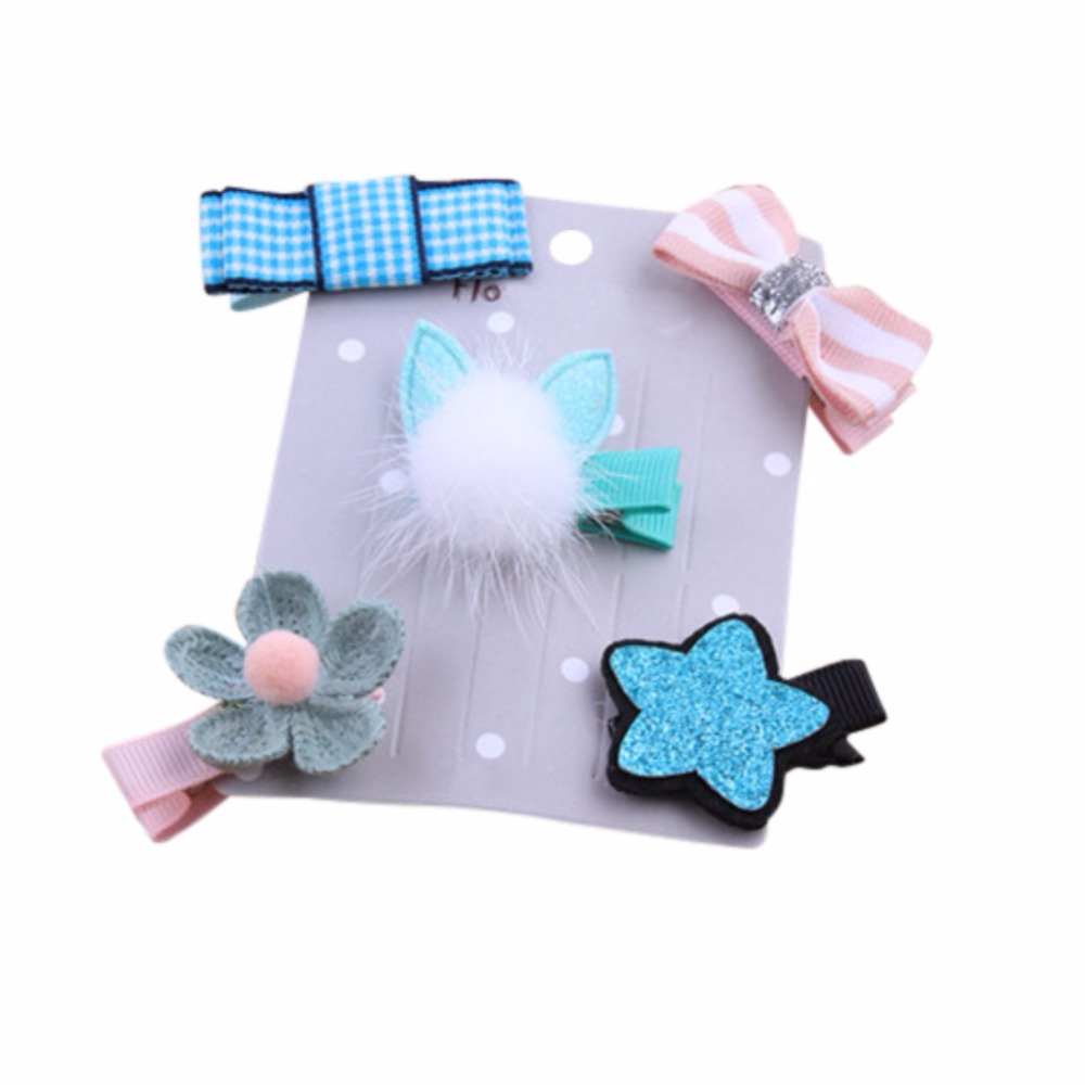 Cute Baby Girls Cartoon Hair Clip Hairpin Toddler Kids Children Hair Accessories Lovely Headwear Hair Hoop Set 07 10pcs mix color barrette baby hair clip cute flower solid cartoon handmade resin children hairpin girl hair clip accessories