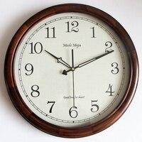 Large Decorative Vintage Wall Clocks Home Decor Wood European Luxury Wooden Antique Retro Wall Clock Big Shabby Chic Saat 50B070
