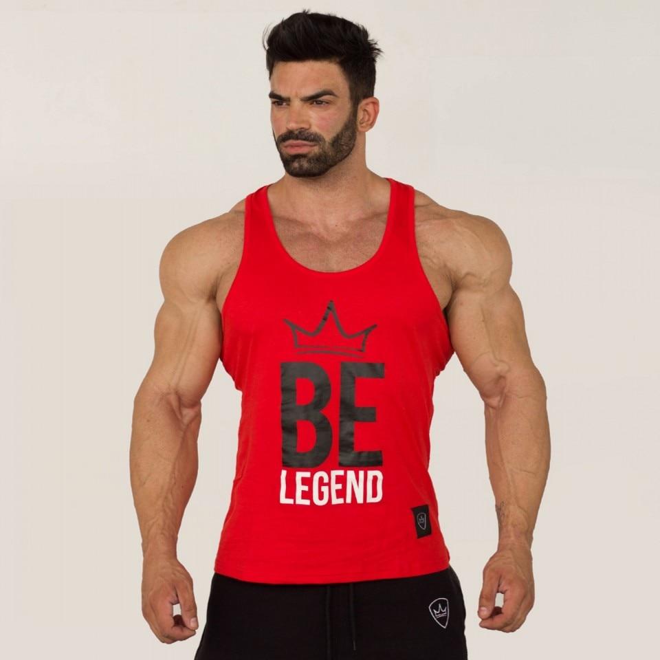 New BeLegend Men Boys Casual Revolution Printing   Tank     Top   Vest Bodybuilding Stringers Vests Male Singlets Summer Modern Trend