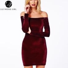 Sexy Velvet Pencil Dress