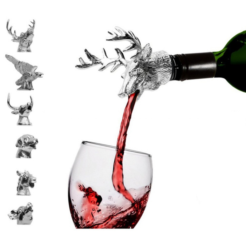 Wijnaccessoires Deer Head Red Wine Stopper Zinc Alloy Creative - Keuken, eetkamer en bar - Foto 1