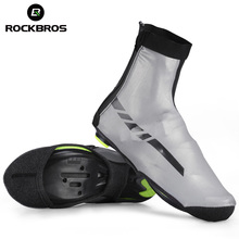 ROCKBROS Waterproof Winter Cycling Shoe Covers Reflective Th