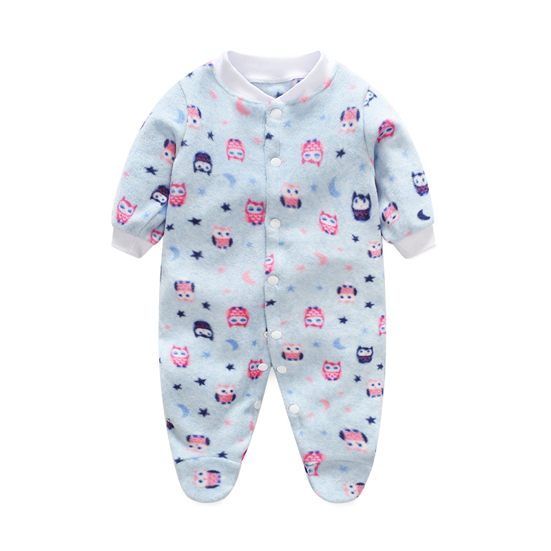 Brand New 2017 Autumn Winter Baby Romper Newborn Clothes Long Sleeved Coveralls For Newborns Boy Girl Polar Fleece Baby Clothing new 2017 autumn winter baby rompers clothes long sleeved coveralls for newborns boy girl polar fleece baby clothing 3 12m 004