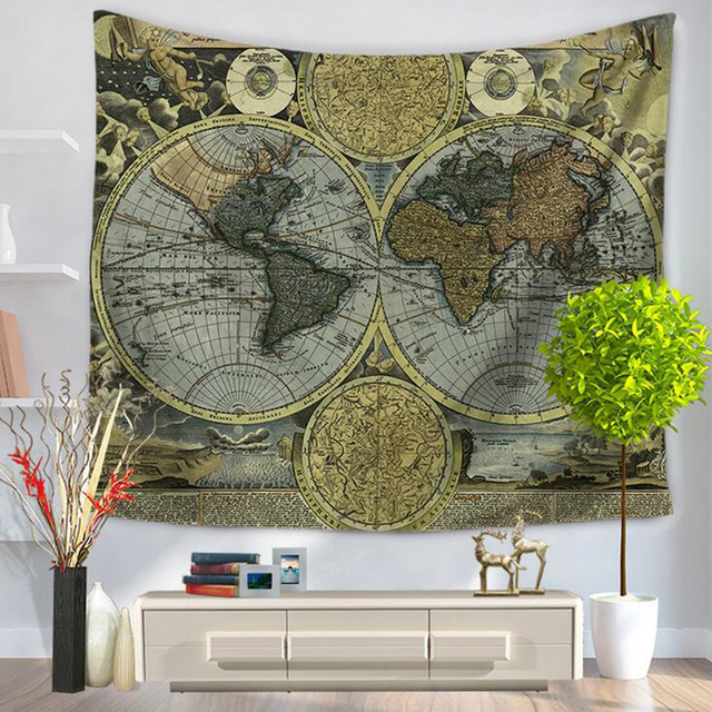 1pc fashion creative world map tapestry wall hanging blanket 1pc fashion creative world map tapestry wall hanging blanket lightweight beach shawl carpet home decoration supplies gumiabroncs Choice Image