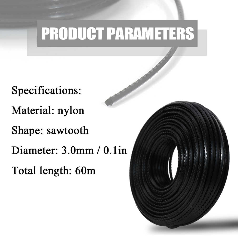 3,0mm profesional calidad cortando de Nylon de Trimmer cuerda cortador de cepillo Strimmer la línea de corte de césped accesorio