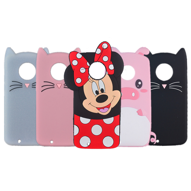 wholesale dealer 9be96 2c923 US $1.94 12% OFF|For Motorola Moto G6 G6 Plus G6 Play Case Silicone Cartoon  Pig Cat Phone Cover Cases-in Fitted Cases from Cellphones & ...