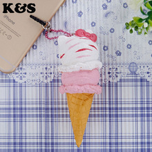 1Pcs Retail 10CM Ice Cream Cone Squishys New Original Package Rare Hello Kitty Squishy Toys Licensed