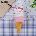 1pcs retail 2015 5cm  new original package rare ice cream squishy hello kitty Squishy cell phohe Strap Charm pink