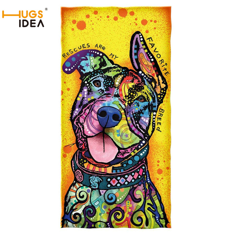 HUGSIDEA Warmer Soft Bath Shower Towels Dean Russo Rescues are My Favorite Breed Cotton Beach Towel Large Thick Yoga Blanket