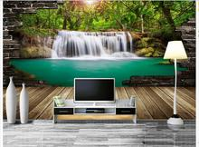 Customized 3d photo wallpaper wall murals Waterfall scenery water board background living room