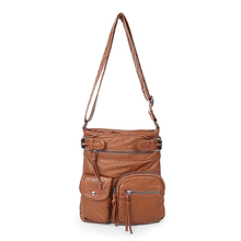 Brand women messenger bags fashion and durable PU Leather cross body travel bag for woman vintage shoulder ladies