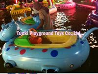 New arrival child bumper boat water hand electric bike toy
