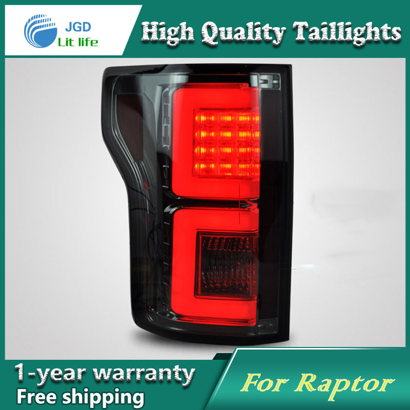 Car Styling Tail Lamp for Ford Raptor F150 2015 taillights Tail Lights LED Rear Lamp LED DRL+Brake+Park+Signal Stop Lamp for f150 raptor f 150 led tail light rear lights for ford 2008 2012 year smoke black sn