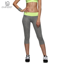 Ovesport Women Yoga Leggings Sexy Gym Sport Pants Workout Tights Sexy Slim Mesh Yoga Sport wear Hips Push Up Elastic Trousers