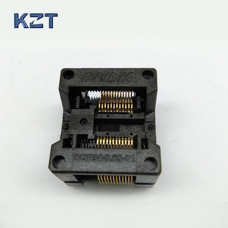 SSOP24 TSSOP24 IC Test Socket OTS-34-0.65-01 Chip Burn in Socket Bounce Socket Adapter Wholesale Conversion Block Connector