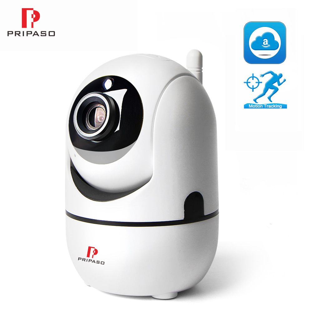 Pripaso Wireless Smart WiFi Camera 720P Cloud IP Camera Two Way Audio Mini Camera Security WIFI Home CCTV Camera Night Vision