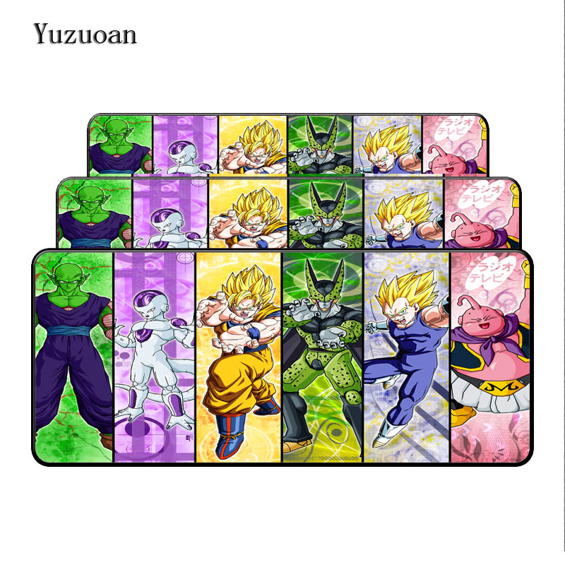 Yuzuoan Large Lock Edge Mouse Mat Pad para Mouse de Notebook Computador Mousepad Gaming Mouse Pad Presente For Dragon Ball z