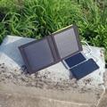 PowerGreen Respaldo de Batería Solar Plegable Panel de 7 Vatios de Doble Puertos Cargador Solar Del Banco de la Energía Solar para Todo el Teléfono Celular