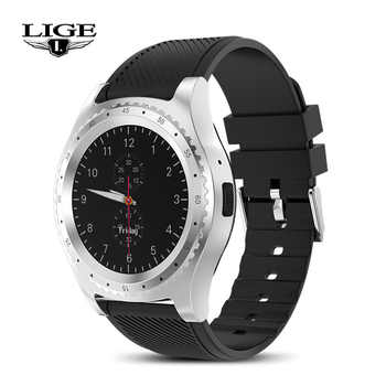 LIGE Smart Watches Silver black