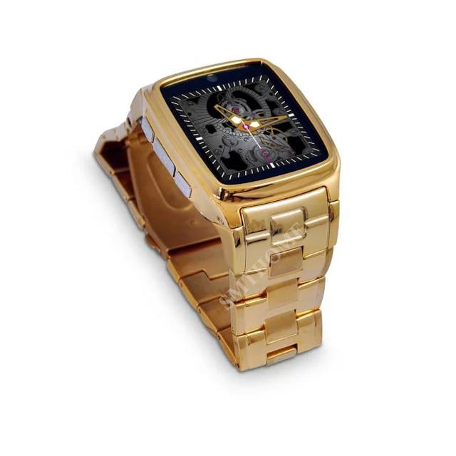 TOP Watch TW810D TF SIM Watch Phone Stainless Steel Men Wrist font b SmartWatch b font