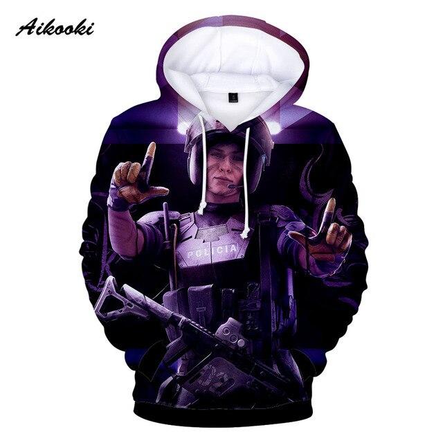 c8aa1ff73ed87 Aikooki Hot Sale Rainbow Six Siege Hoodies 3D Men/Women Hoodie Sweatshirt  Hoody 3D Print Pullovers Hoodies Boys/Girls Thin Tops