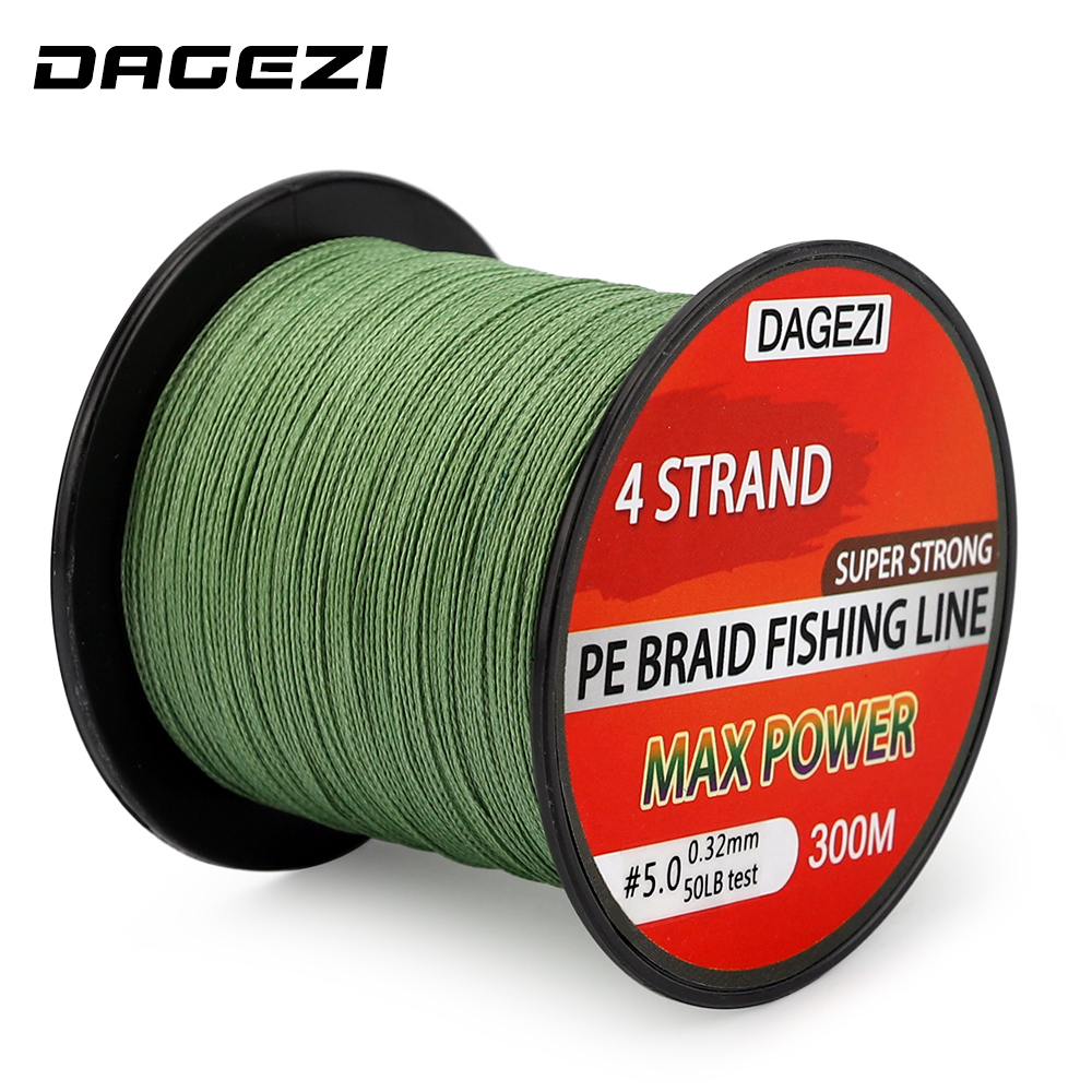 DAGEZI 20-90LB BRAIDED fishing lines With Gift 4 strand 300m Super Strong Multifilament 100% PE Braided Fishing Line js 11 чайная пара роза рафаэлло pavone