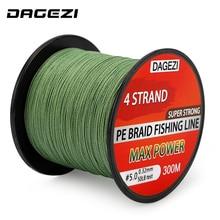 DAGEZI 20-90LB BRAIDED fishing strains With Reward  Four strand 300m Tremendous Robust  Multifilament 100% PE Braided Fishing Line