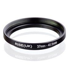original RISE(UK) 37mm-40.5mm 37-40.5mm 37 to 40.5 Step Up Ring Filter Adapter black free shipping