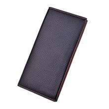 SUONAYI Clutch Male Wallet Men Baellerry Wallets Wristlet Men Clutch Bags Coin Purse Men's Wallet Leather Male Purse portemonnee
