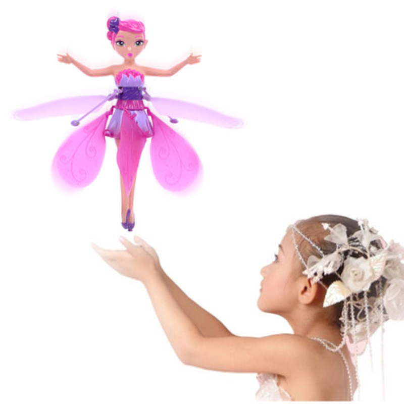 купить 1PCS DIY Flying Fairy Dolls Learning & Education Infrared Induction Control Flying Doll Baby Toys Xmas girls Gift по цене 542.98 рублей