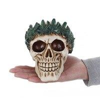 Gel de silice Halloween La Paix Crâne silicone moule 3D Feuille crâne tête savon gâteau fondant au chocolat gâteau moule cuisine halloween moules