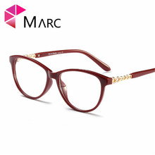 MARC Retro Cat Eye Glasses Sexy Optical Frames Clear Women Prescription Cheap Eyeglasses  Frame 95161