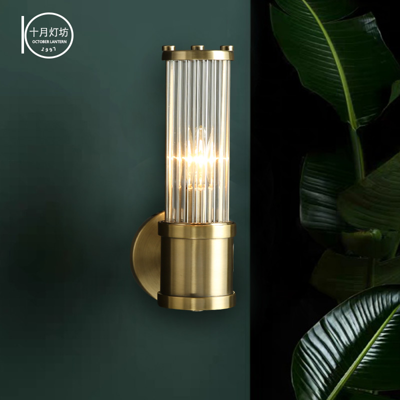 modern crystal led wall lamp living room bedside lamp aisle background wall lamp Nordic Light luxury LED decorative wall lamp chic lotus pattern removeable decorative background wall sticker