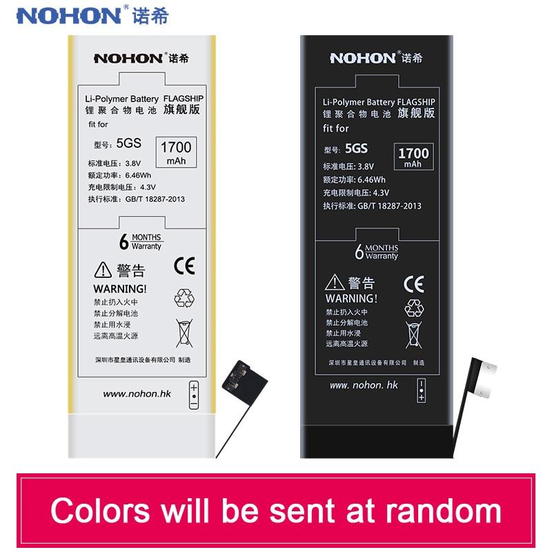 NOHON Replacement-Batteries IPhone 5s Batterij Apple Batarya 1700mah Original For High-Capacity