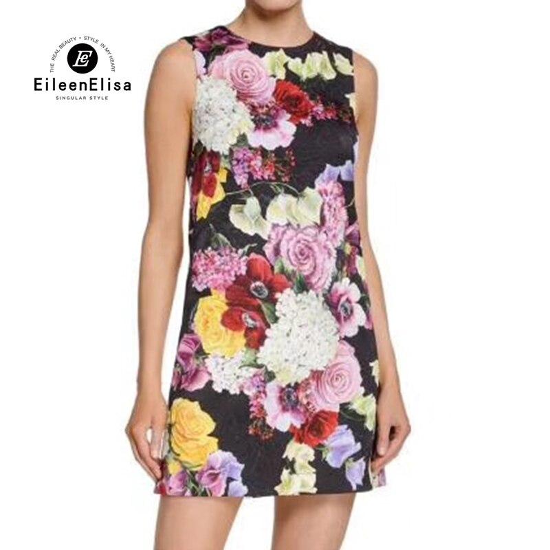 Летнее платье женское платье без рукавов с цветочным принтом элегантное женское мини платье трапециевидной формы женское платье Vestidos
