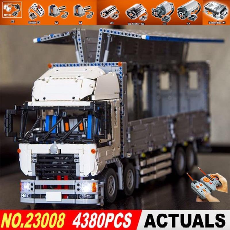 цены Building Block Bricks Technic Series 23008 Compatible 1389 The MOC Wing Body Truck Toys for Kids DIY Gifts Lepin technic trucks