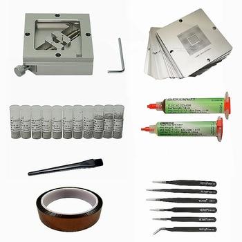 цена на for Phone Reballing Repair 23pcs  90 mm Universal Stencil BGA Reballing Stencils Kit  bga station solder ball Reballing Stencil