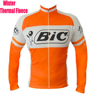 SPEEDPEAK BIC ProTeam Men Long Sleeve Cycling Jersey Winter Thermal Fleece Bike Clothes MTB Top Quality Windproof Bicycle Jacket