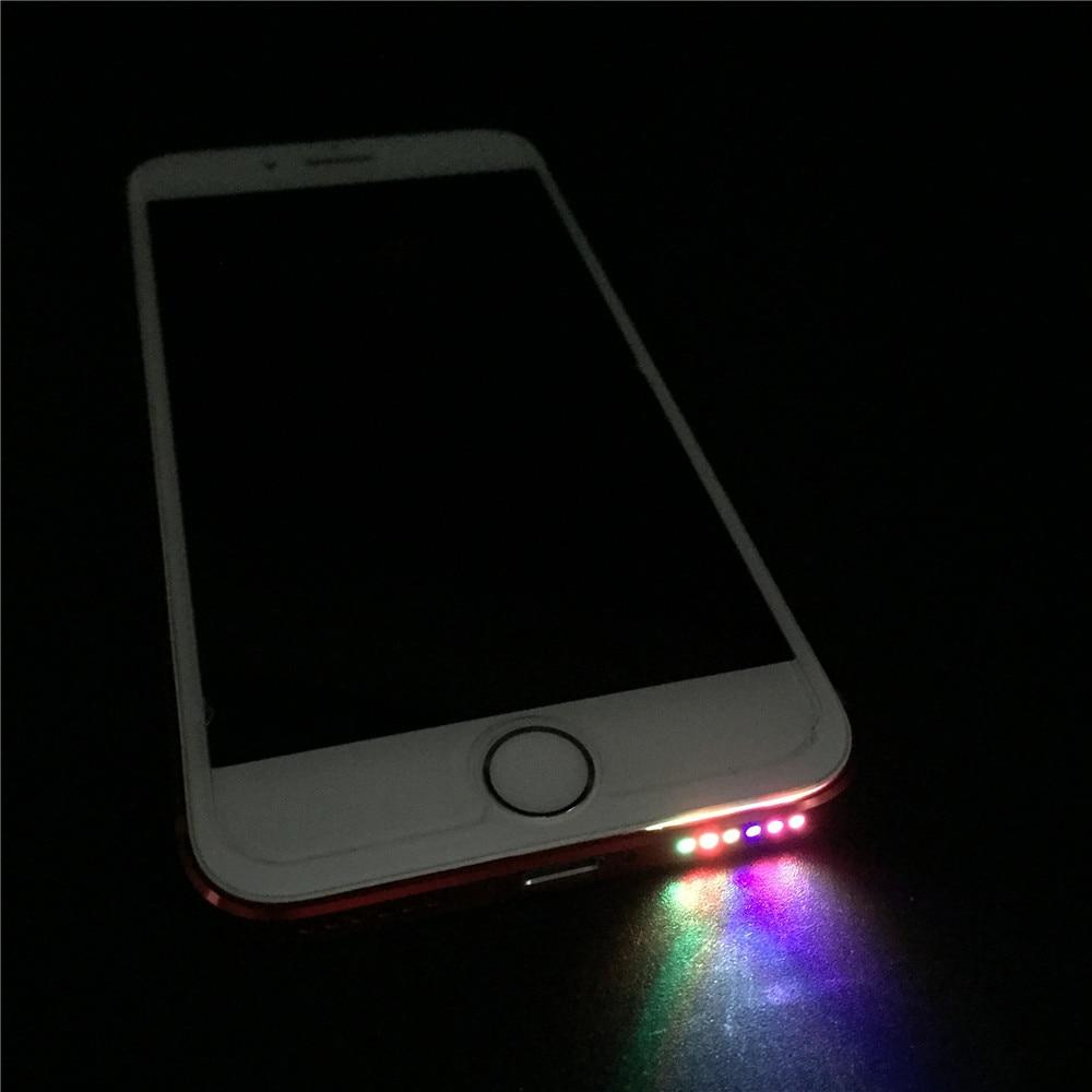 SZYSGSD LED Light Smart Phone LED Flash Light For Iphone 8 6 6s 7 7 Plus For Samsung S7 S8 Colorful Bottom Led Light Music Lamp