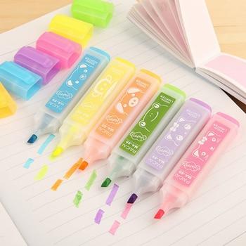 Korea stationery wholesale, large capacity creative color fluorescent pen, watercolor pen marker, note number pen wholesale. wholesale