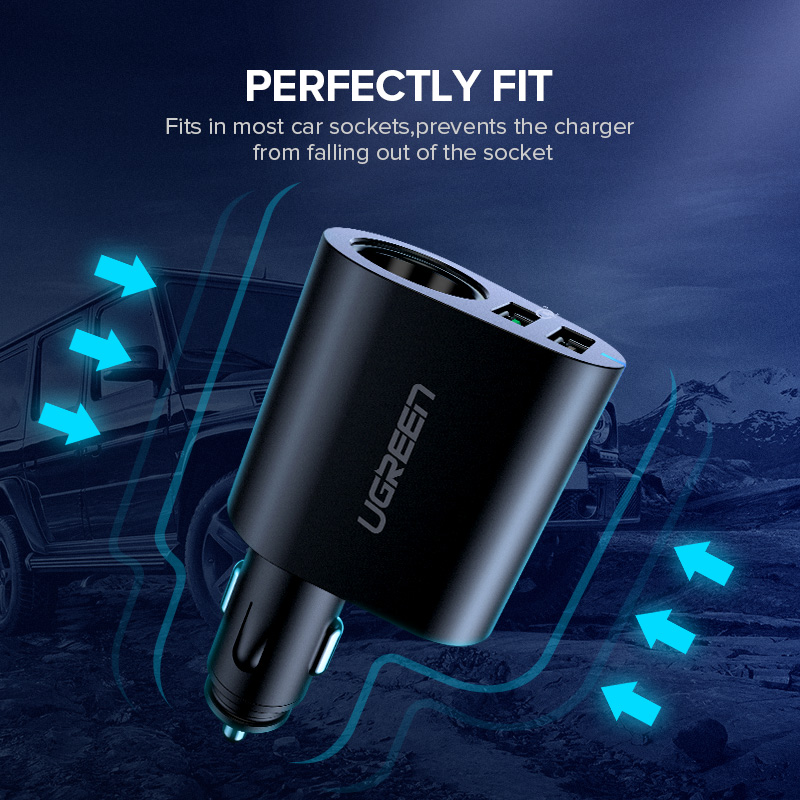 Image 5 - Ugreen Car Charger Adapter 60W Dual USB Quick 3.0 Charge USB Charger for iPhone X 8 Samsung Galaxy S9 S8 LG V20 USB Car Chargercharger for iphonecharger forcharger charger -