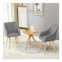 Fabric Dining Chair 2pcs Lot Grey Armchair Metal Legs Dining Room Furniture HOT SALE